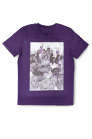 T-shirt Brian elstak purple