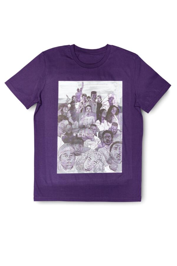 T-shirt Brian elstak purple