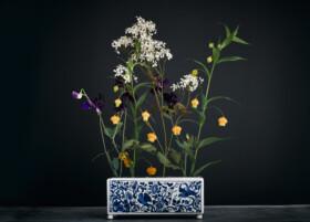Handpainted porcelain flower vase - Rijksmuseum