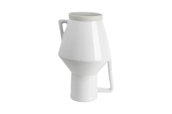 Vase mit Griff weiß