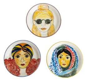 Women of the world plate set