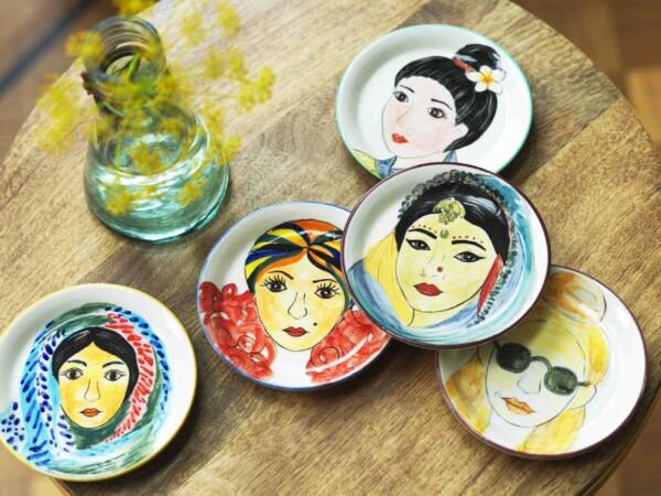 Women of the world plate set