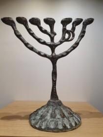 Bronzen menora / Menorah Bronze