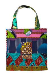 folding bag african fabric