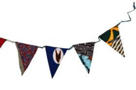 flag garland african fabric