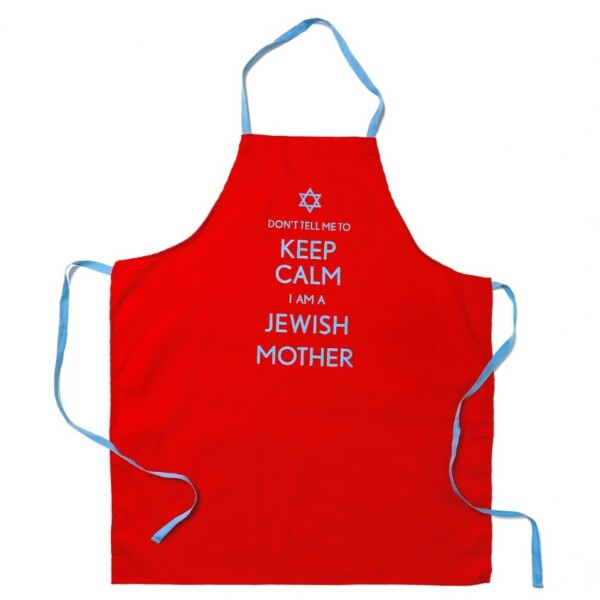 "Apron ""Dont tell me to keep clam I am a Jewish Mother"""