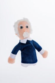 Finger puppet and magnet Einstein