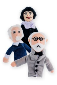 Finger puppet and magnet Einstein, Freud and Spinoza