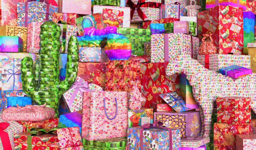 Printwand Cadeau, Hoezo Kom geven beleven_(c) Maison the Faux