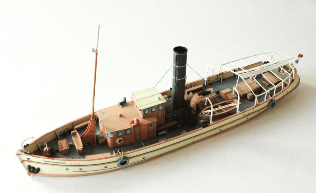 "World of Paperships - Dutch design cardboardmodels - Dutch museum ship ""Christiaan Brunings"""