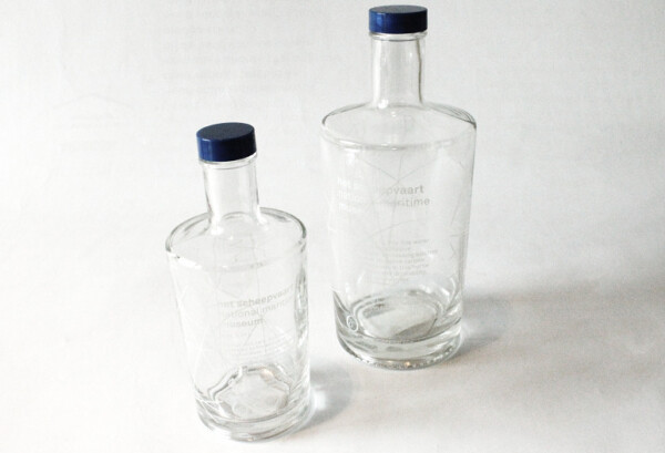 Glass water bottle (0,75l and 0,33l)