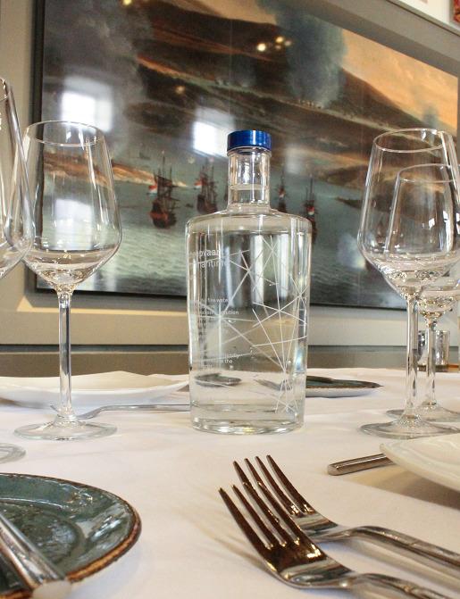 Glazen waterfles (0,75l en 0,33l)