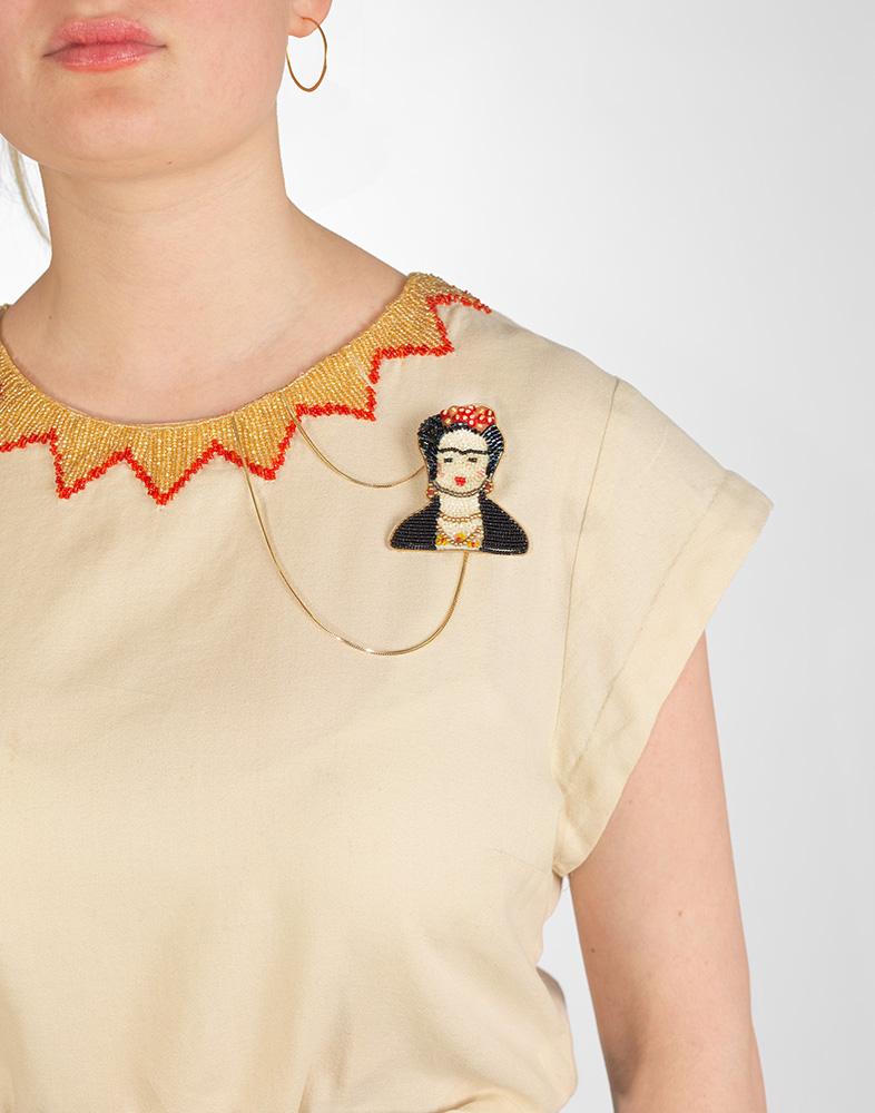 Brosche / Anhänger Frida Kahlo
