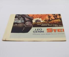 "Vintage movie poster ""Steel Bayonet"" - folded"