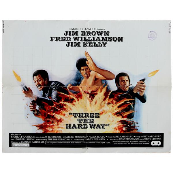 Three the hard way - Original vintage movie poster