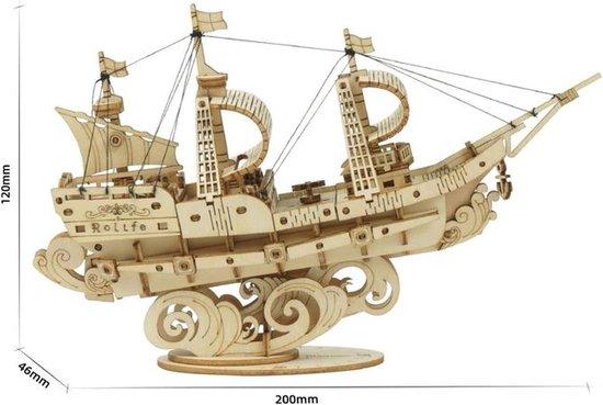 3D Wooden puzzle sailing ship