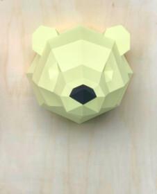 3D Papieren ijsbeer – Limited Edition Geel
