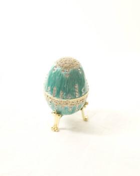 fabergé-stijl ei lichtblauw