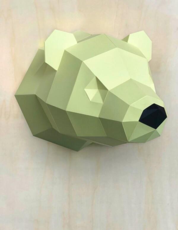 3D Papier Eisbär – Limited Edition Gelb