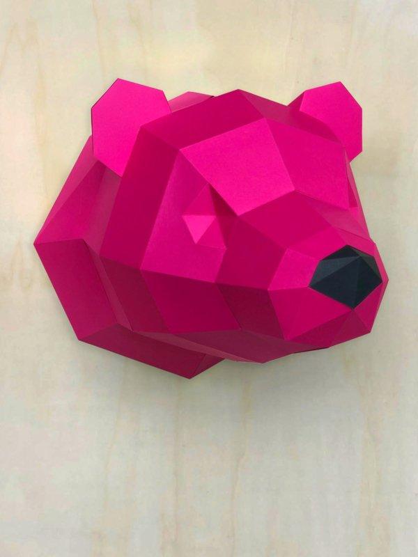 3D Papier Eisbär – Limited Edition Rosa
