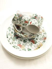 Hermitage Butterfly & Flower Breakfast set
