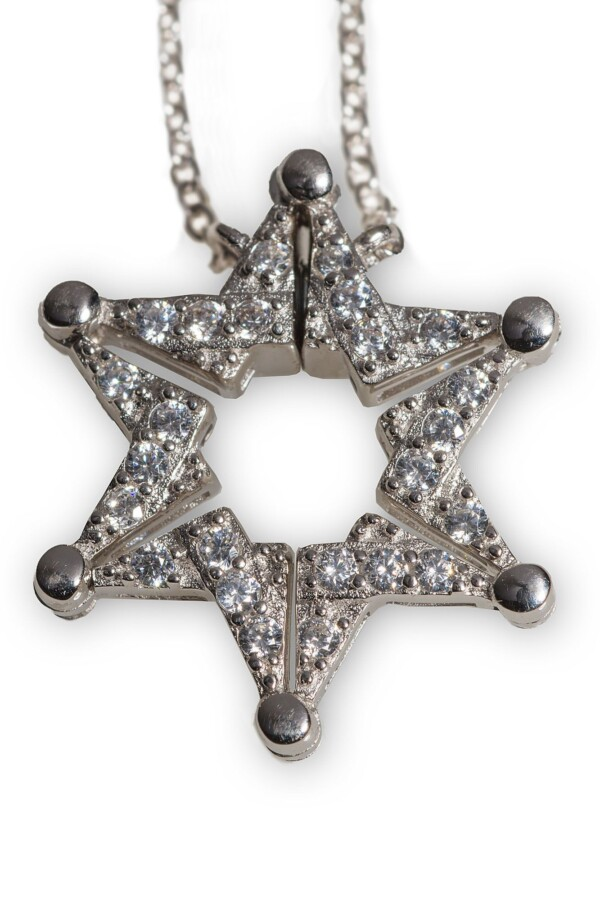 Silver Magen David / Butterfly necklace